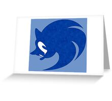 -VIDEO GAMES- Sonic Face Greeting Card