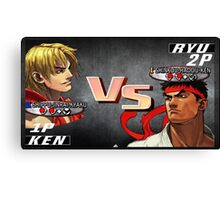 Ryu Vs. Ken Canvas Print