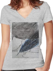 the quill Women's Fitted V-Neck T-Shirt