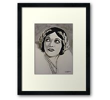 A Woman of the World Framed Print