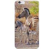 Mother and Baby Zebra iPhone Case/Skin