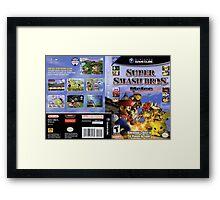 Super smash brothers melee for the nintendo gamecube Framed Print