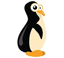 Funny yellow penguin cartoon Photographic Print