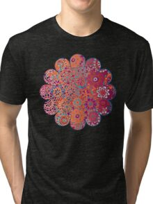 Psychedelic Ombre Flower Doodle Tri-blend T-Shirt