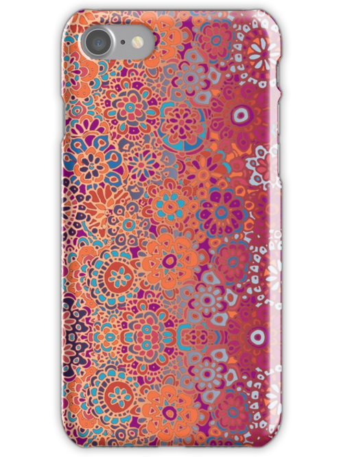 Psychedelic Ombre Flower Doodle by micklyn