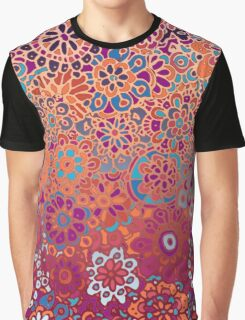 Psychedelic Ombre Flower Doodle Graphic T-Shirt