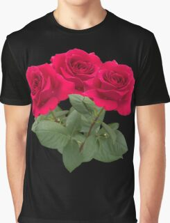 Three red roses Graphic T-Shirt