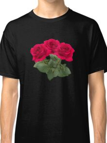 Three red roses Classic T-Shirt