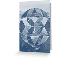 puzzle mountain Greeting Card