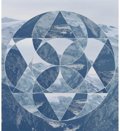 puzzle mountain Sticker