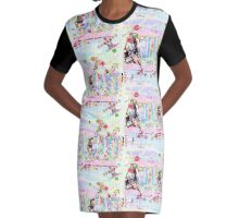 Pink Koala graffiti mashup Graphic T-Shirt Dress