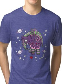 Interstellar Elephant Tee Tri-blend T-Shirt