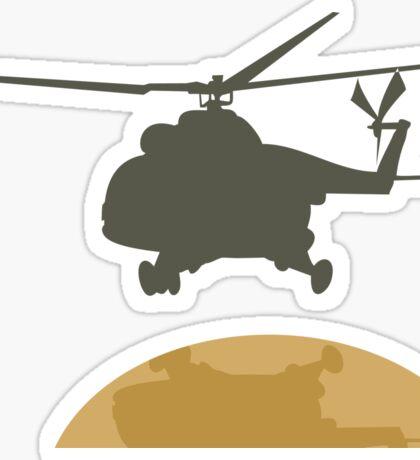 Helicopter flying design Sticker