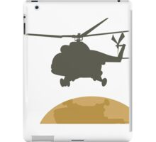 Helicopter flying design iPad Case/Skin