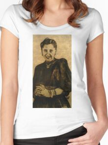 Girl in a Black Dress Women's Fitted Scoop T-Shirt