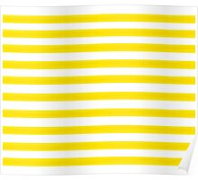 Yellow Striped Poster