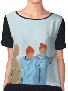 Minimal The Life Aquatic with Steve Zissou Poster Chiffon Top
