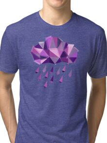 Purple Rain Pattern - Light version Tri-blend T-Shirt