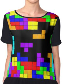 Tetris Making Tetris Fall Chiffon Top