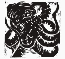 Octopus - Museum Linocut Collection Kids Tee