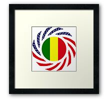 Mali American Multinational Patriot Flag Series Framed Print