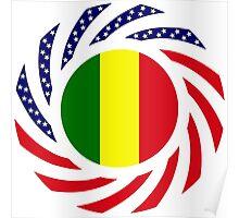 Mali American Multinational Patriot Flag Series Poster