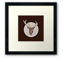 Deer head illustration print Framed Print