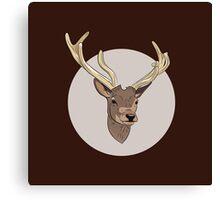 Deer head illustration print Canvas Print