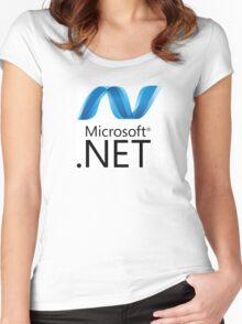 microsoft .net programming language Women's Fitted Scoop T-Shirt