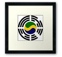 Korean Gabonese Multinational Patriot Flag Series Framed Print