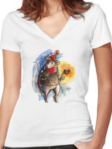Mr. Mouse Women's Fitted V-Neck T-Shirt