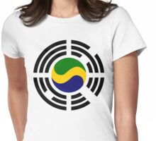 Korean Gabonese Multinational Patriot Flag Series Womens Fitted T-Shirt