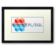 pl sql programming language sticker Framed Print