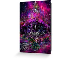 Pyramid Trinity Mind Expansion Greeting Card