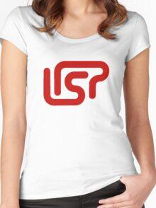 lisp programming language sticker Women's Fitted Scoop T-Shirt