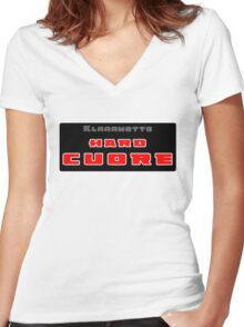( Hard ) Cuore  Women's Fitted V-Neck T-Shirt