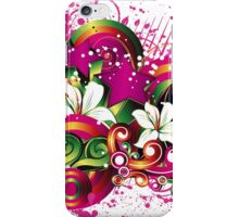 Free floral design background iPhone Case/Skin