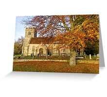 Codford St Mary Church, Wiltshire, United Kingdom. Greeting Card