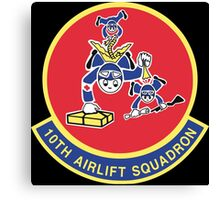 10th Airlift Squadron - US Air Force Canvas Print
