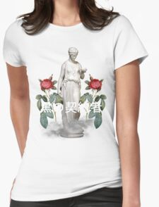 kanji greek vaporwave aesthetics Womens Fitted T-Shirt
