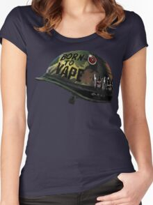 BORN TO VAPE  Women's Fitted Scoop T-Shirt