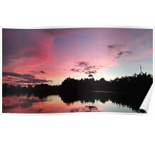a beautiful sunset in Asia Poster
