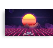 80's Space Car Canvas Print
