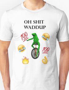 oh shit waddup here come dat boi meme Unisex T-Shirt