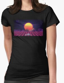 80's Space Car Womens Fitted T-Shirt