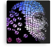 Future Face Pixel Away Metal Print