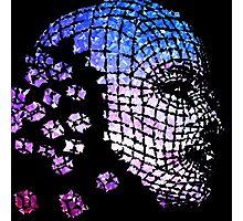 Future Face Pixel Away Photographic Print