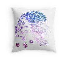 Future Face Pixel Away Throw Pillow