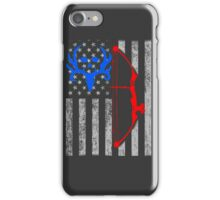 american bow hunting USA flag iPhone Case/Skin