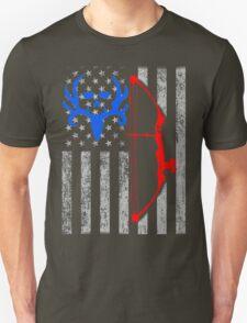 american bow hunting USA flag Unisex T-Shirt